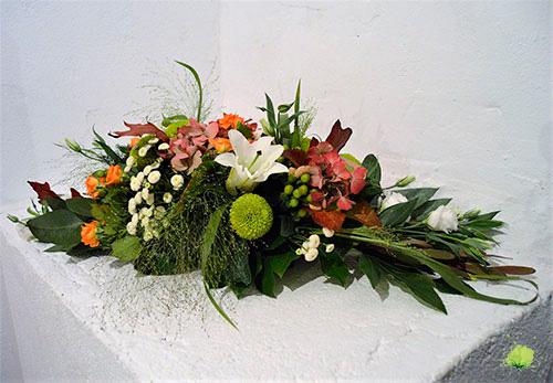 Centro de Flores Funerario Horizontal