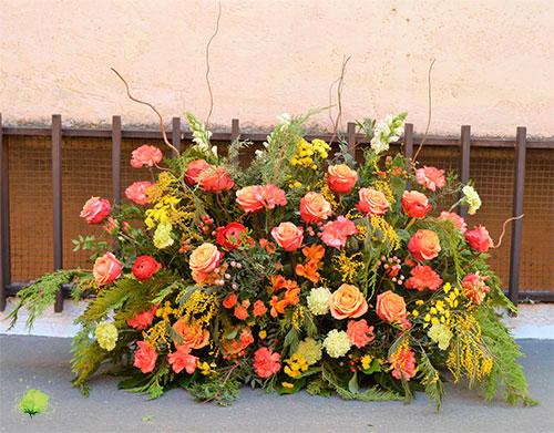 Centro de Flores Funerario Vertical