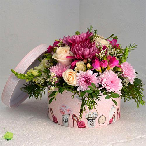 Composición Floral Bombonera