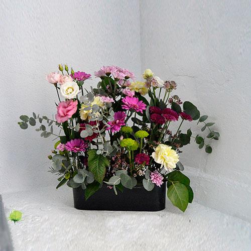 Composición Floral para Nicho - Día de Todos los Santos - Tonos Claros