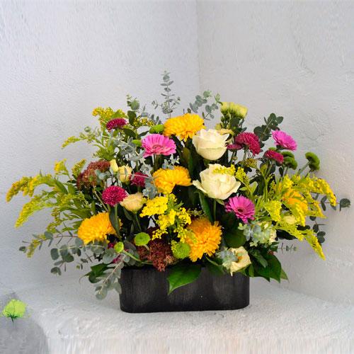 Composición Floral para Nicho - Día de Todos los Santos - Tonos Intensos