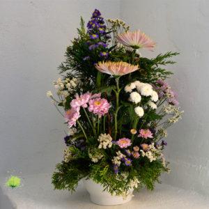 Composición Floral para tumba vertical - Día de Todos los Santos