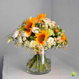 Ramo Flores Naturales Bouquet Tonos Claros