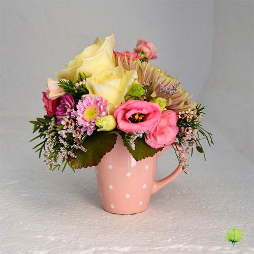 Taza de Flores Frescas