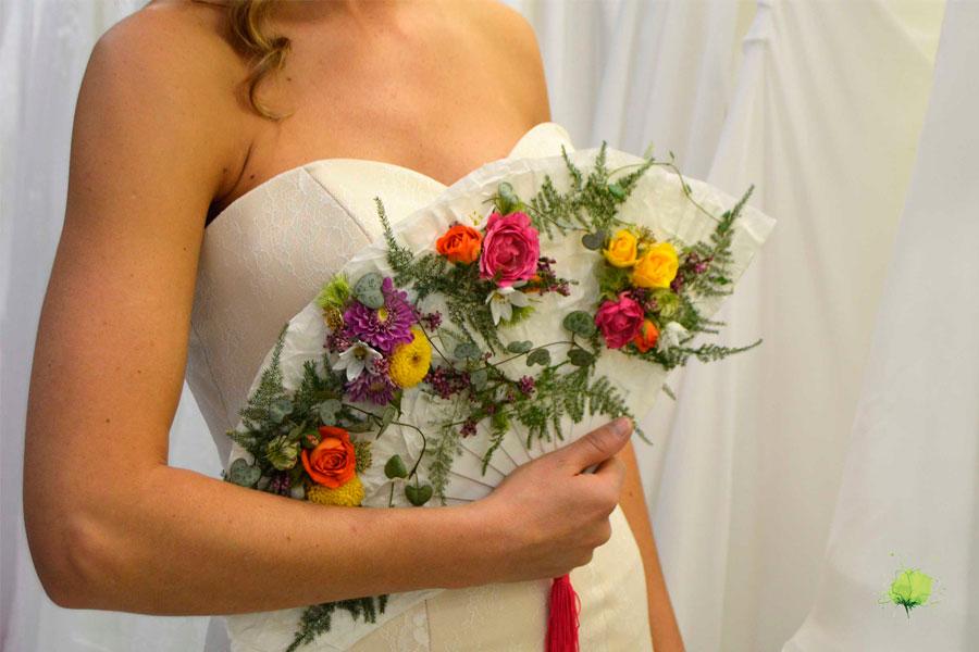 Abanico Floral para Novia