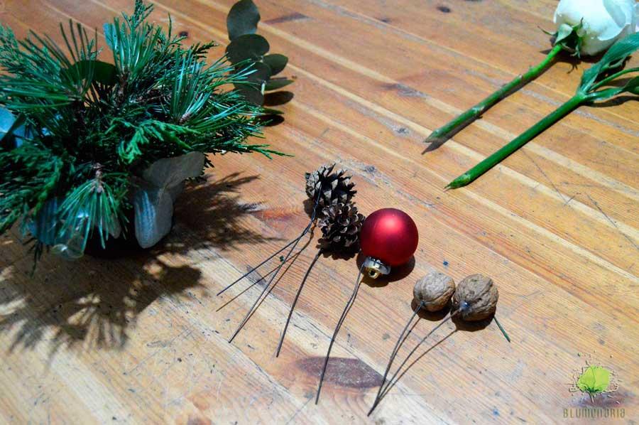 Centro de Flores para Navidad - Blumenaria Taller Floral