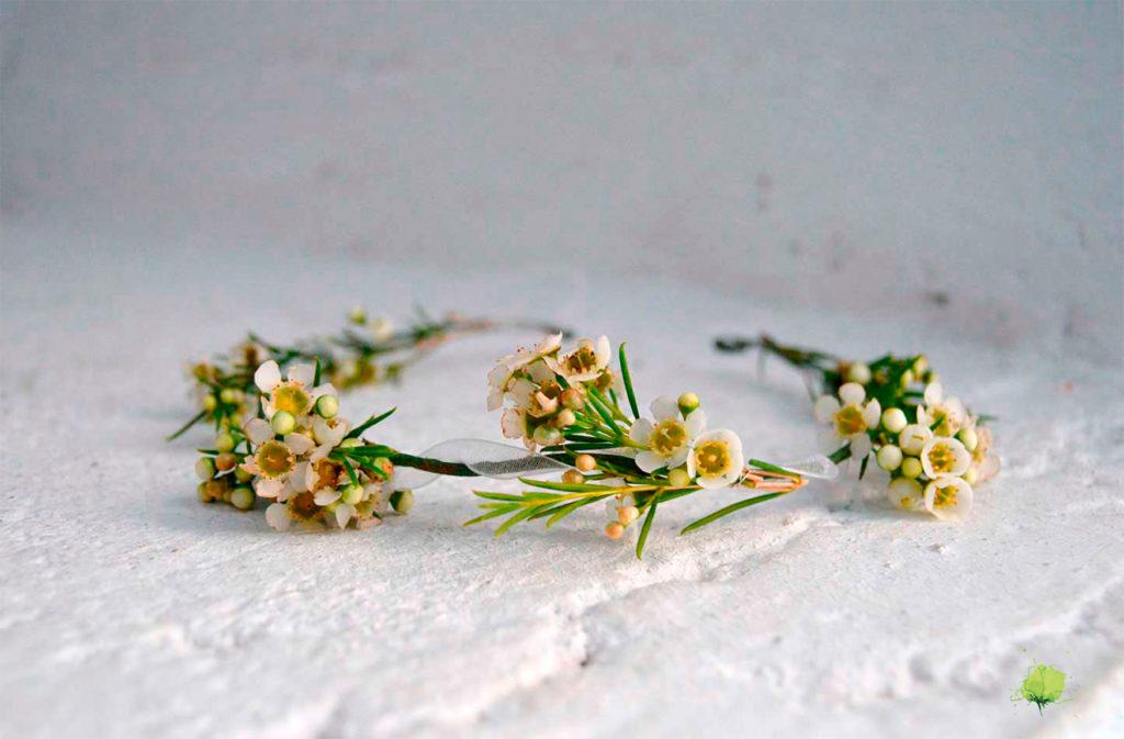 Complementos Florales Corona Comunión - Blumenaria Taller Floral