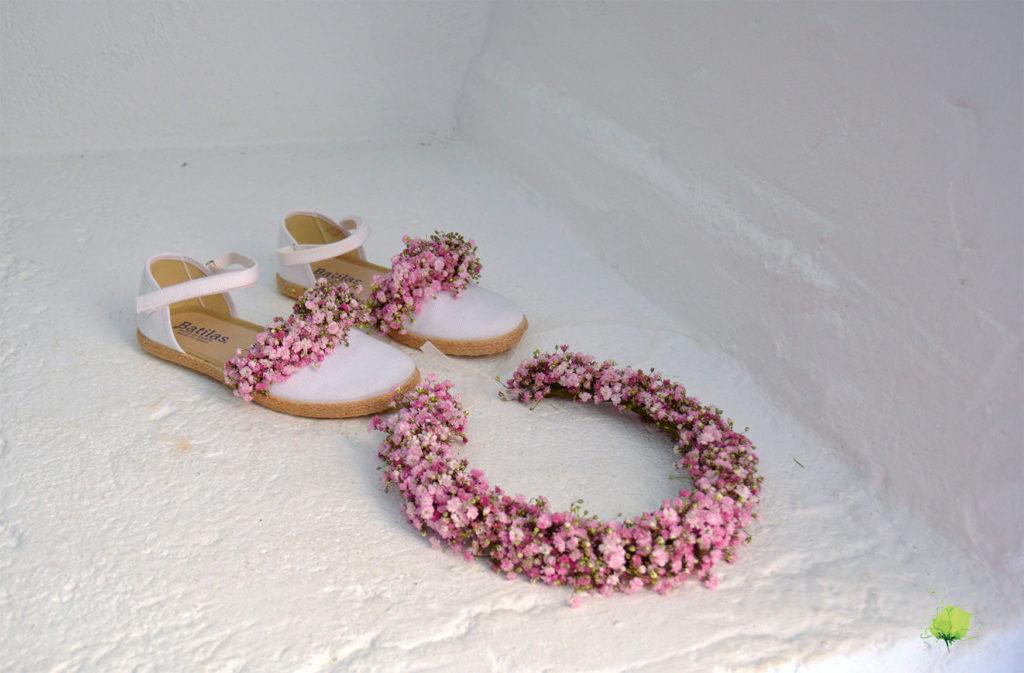 Complementos Florales Corona y Zapatos - Blumenaria Taller Floral