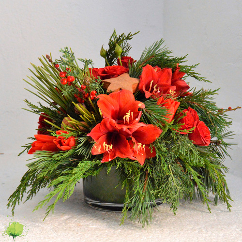 Composición Floral de Navidad - Blumenaria Taller Floral