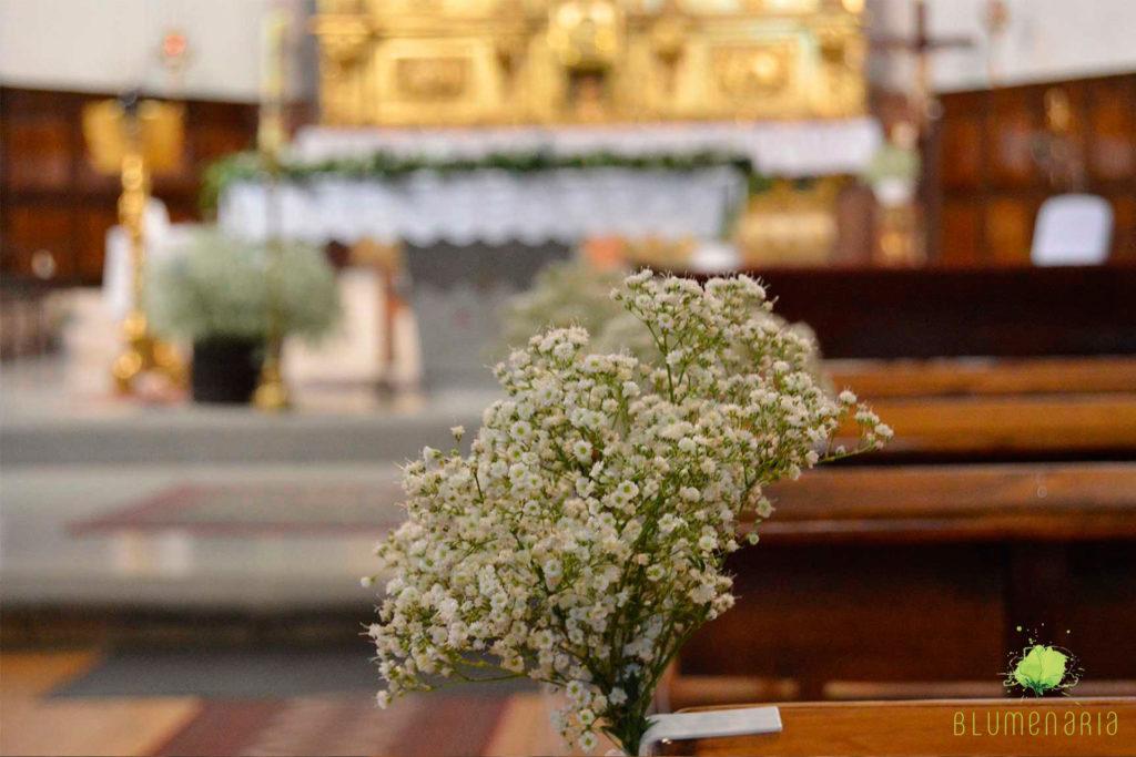 Comuniones Decoración Iglesia - Blumenaria Taller Floral