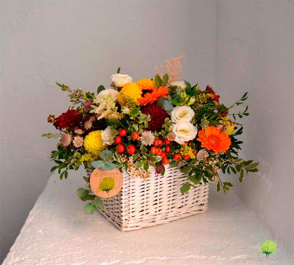 Cumpleaños Cesta Flores - Blumenaria Taller Floral