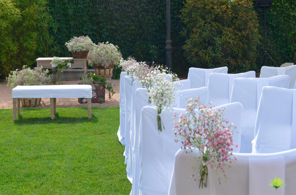 Decoraci n de bodas con flores blumenaria for Decoracion ceremonia civil