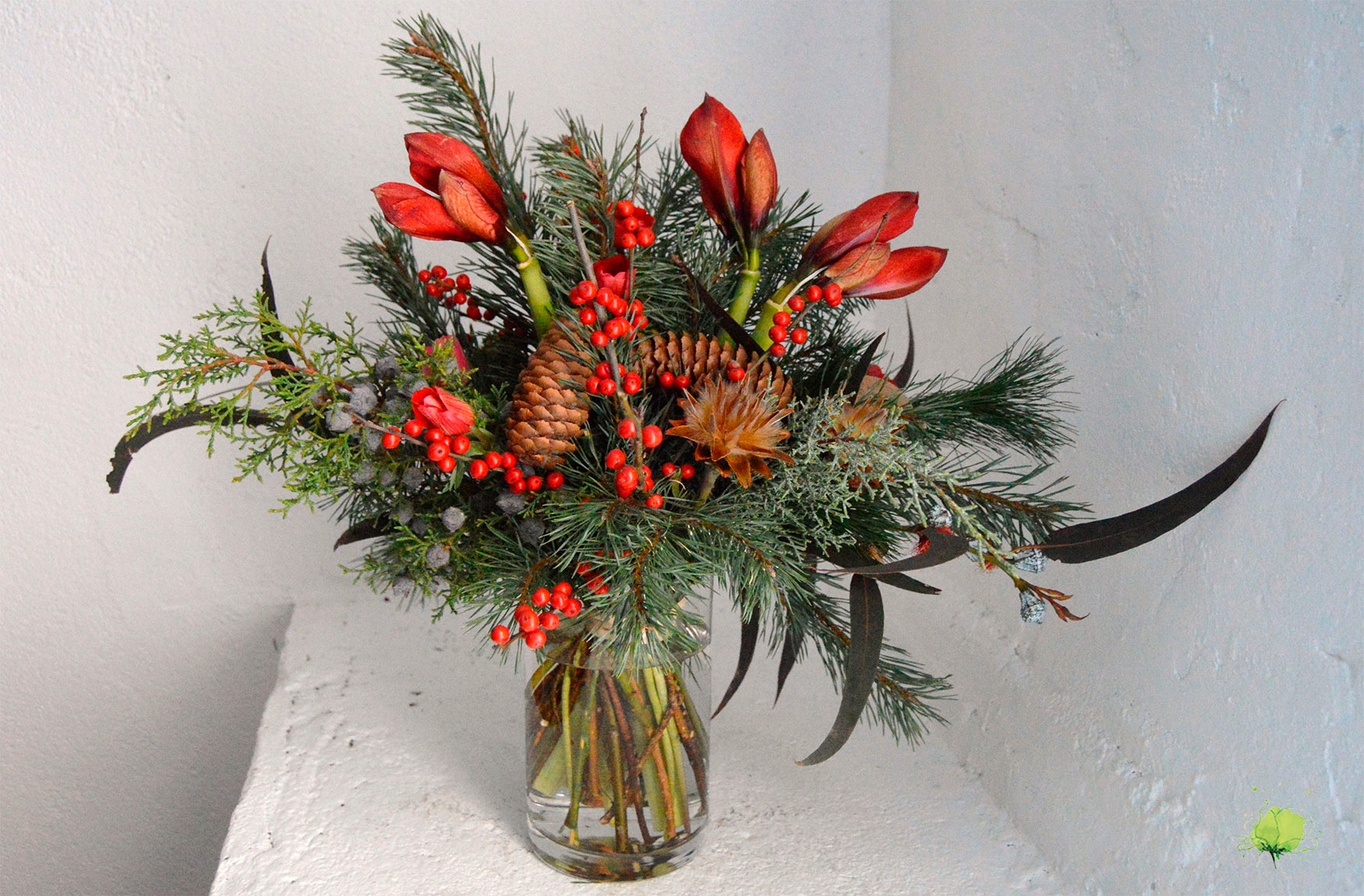 Navidad Composición Natural - Blumenaria Taller Floral