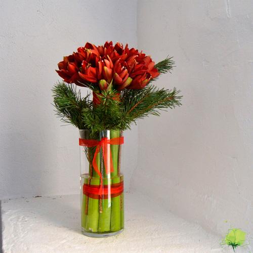 Ramo Amarilis para Navidad - Blumenaria Taller Floral