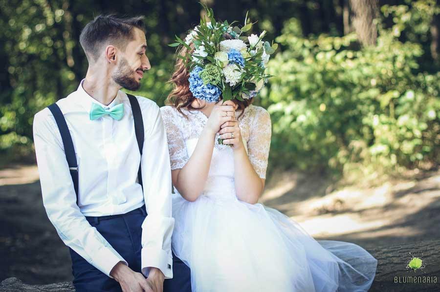 Pareja en San Valentin - Blumenaria Taller Floral