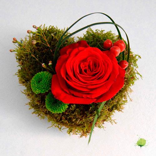 Corazón Floral San Valentín - Enamorados - Flores Blumenaria