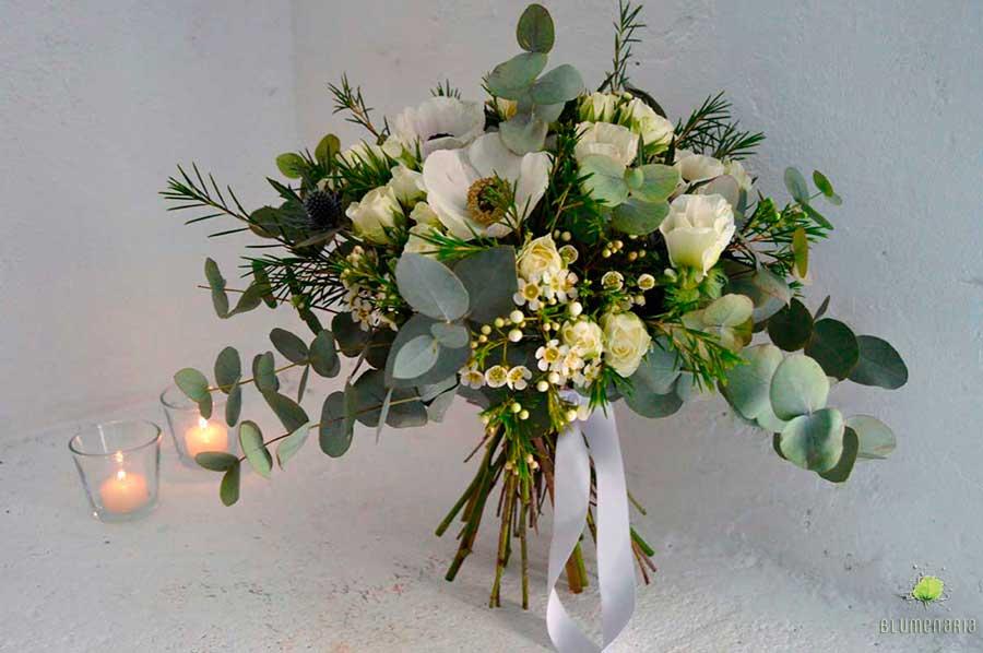 Ramo Eucalipto y Eryngio en San Valentin - Blumenaria Taller Floral