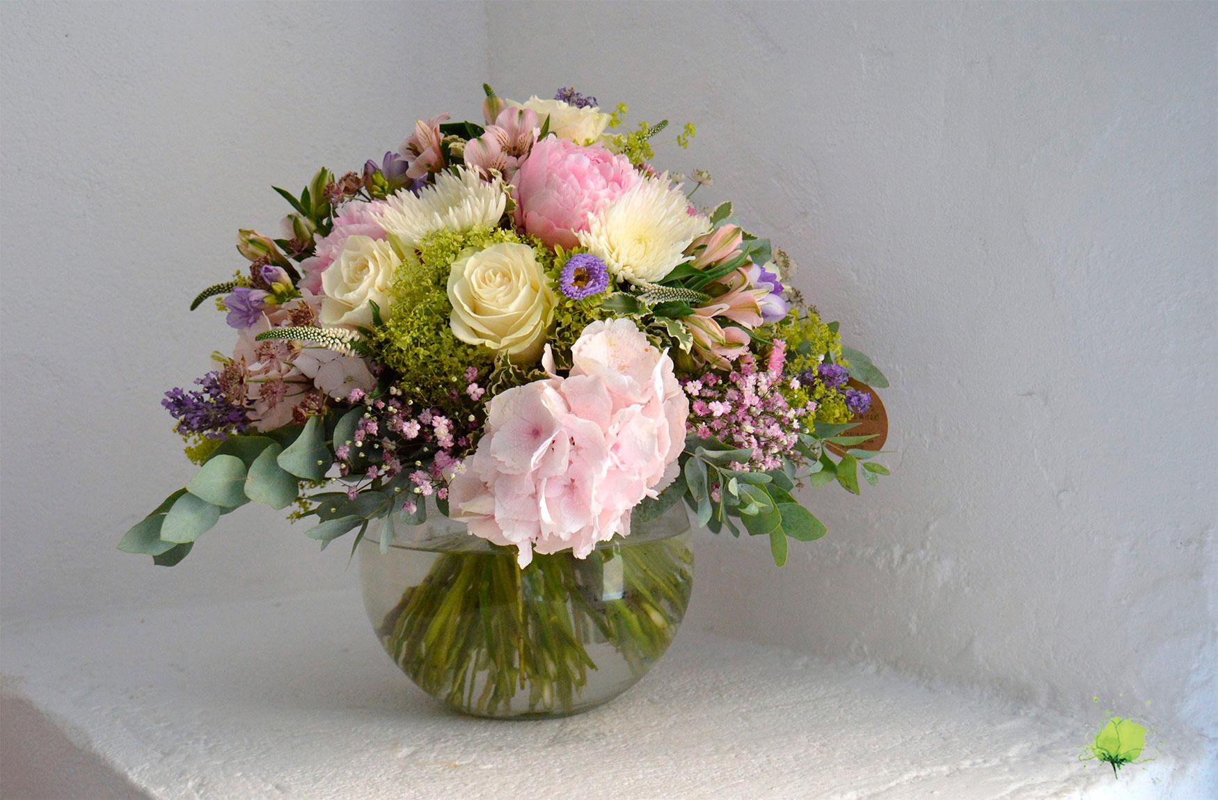Enamorados San Valentín Ramo Flores - Blumenaria Taller Floral