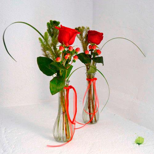 Violetero de Flores San Valentín - Enamorados - Flores Blumenaria
