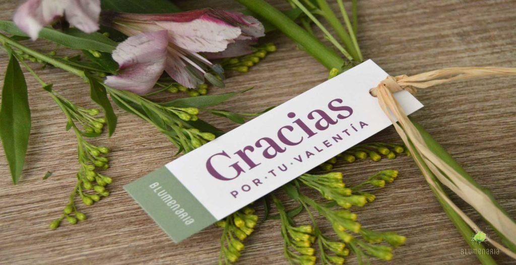 Blumenaria Taller Floral con los sanitarios de Segovia